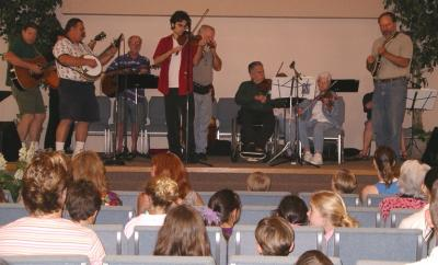 Gut Bucket Band Performs for School
